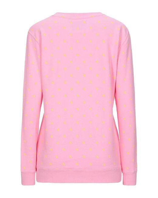 Sweat-shirt Calvin Klein en coloris Pink