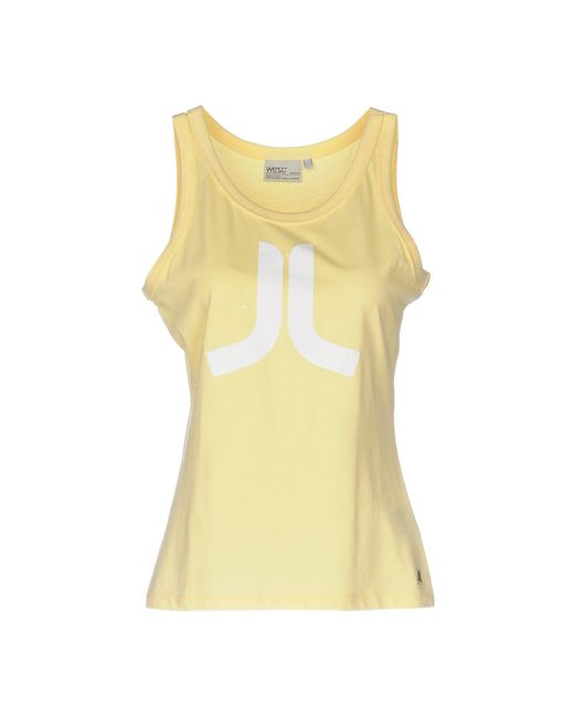 Wesc - Yellow Tank Top - Lyst