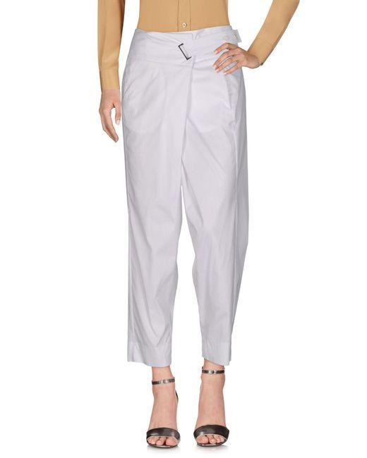 Malloni | White Casual Pants | Lyst