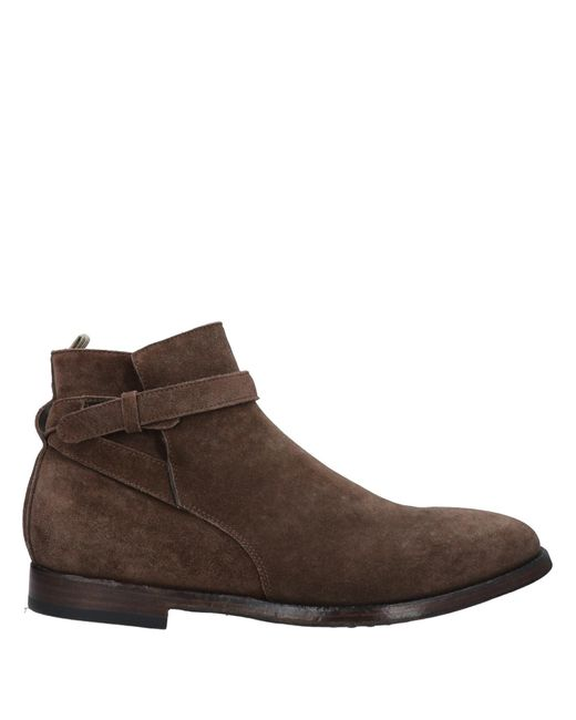 Officine Creative Brown Ankle Boots for men