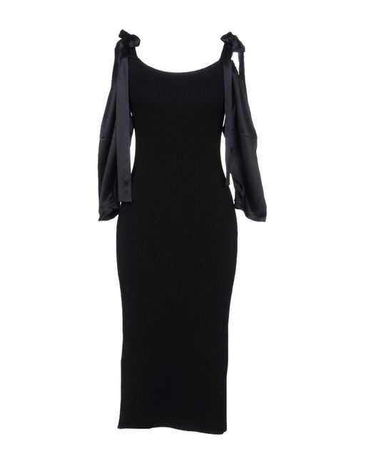 Alberta Ferretti - Black Knee-length Dress - Lyst
