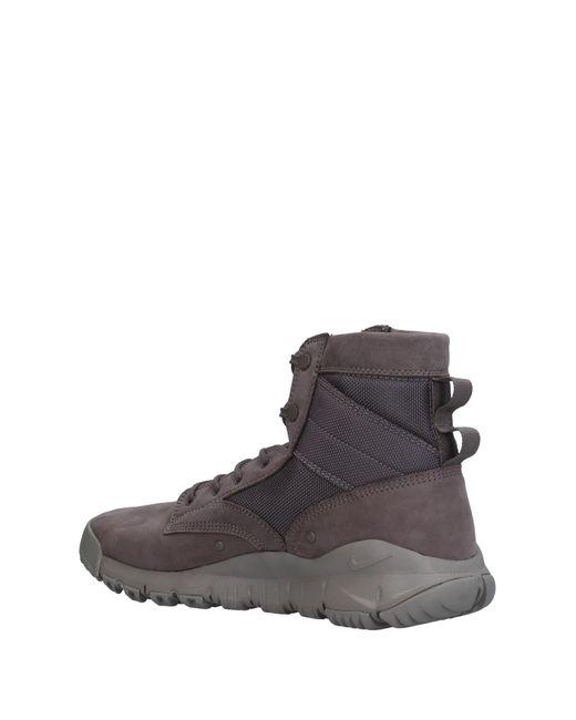 lyst nike hightops amp sneakers in gray for men