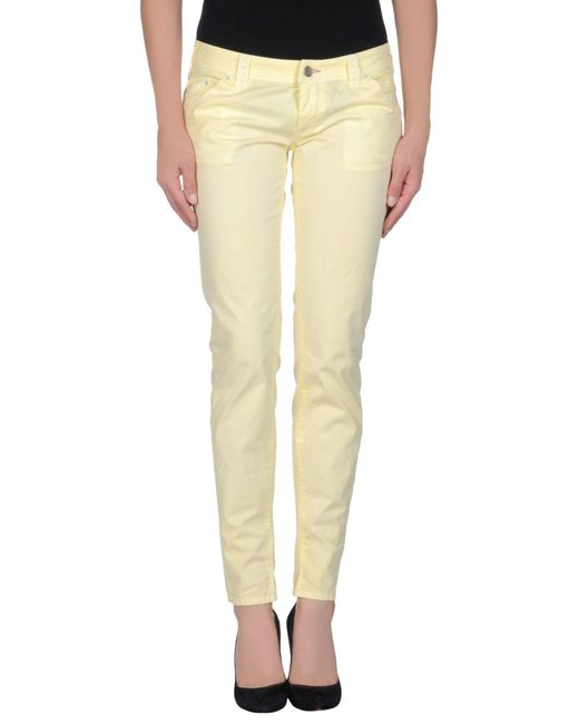 Jcolor Yellow Casual Trouser