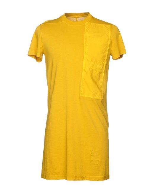 DRKSHDW by Rick Owens - Yellow T-shirt for Men - Lyst