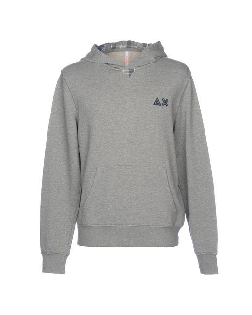 Sun 68 Gray Sweatshirt for men