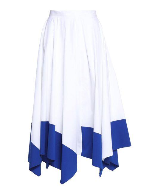 Vionnet - White 3/4 Length Skirt - Lyst