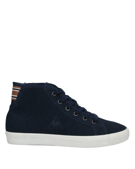 Le Coq Sportif Sneakers abotinadas de mujer de color azul