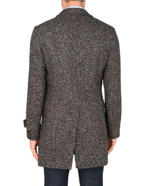 Manteau long Paltò pour homme en coloris Gray