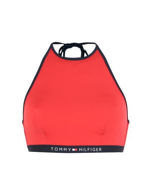 0b77a4419 Tommy Hilfiger - Red Bikini Top - Lyst ...