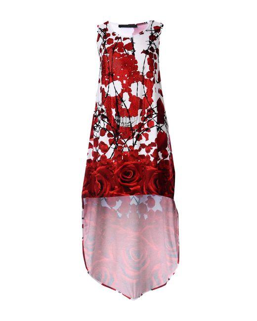 Philipp Plein - Red Short Dress - Lyst