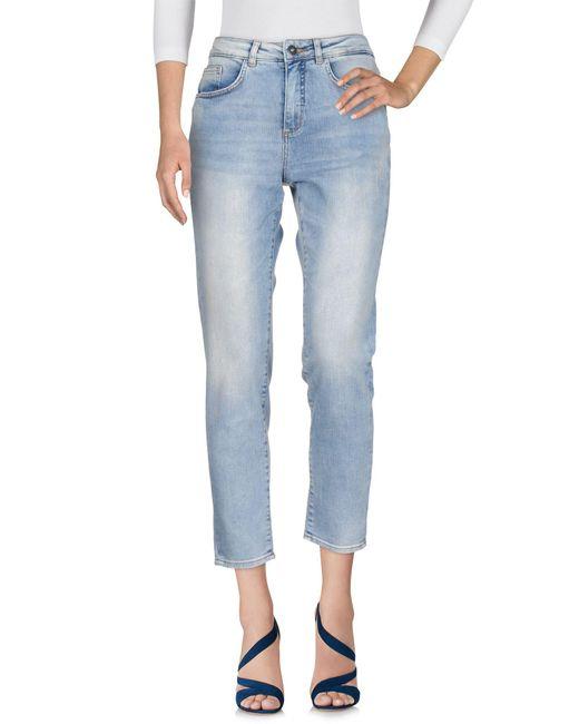 Ichi - Blue Denim Pants - Lyst