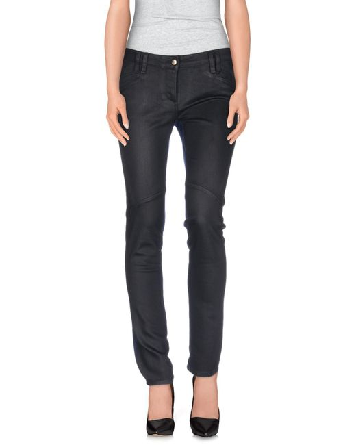 Just Cavalli - Black Denim Pants - Lyst