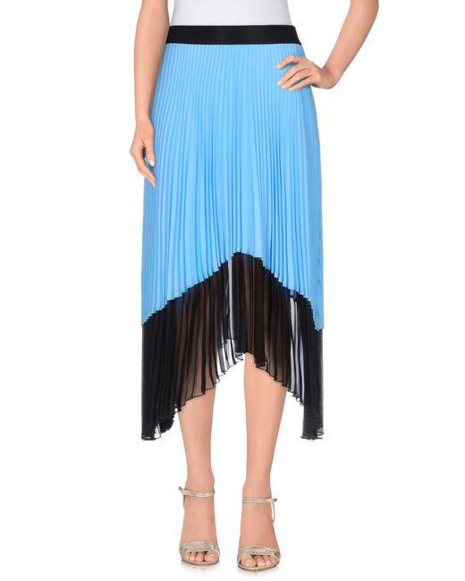 Pinko | Blue Knee Length Skirt | Lyst