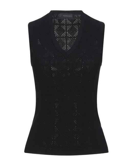 Versace Pullover de mujer de color negro KKPr6
