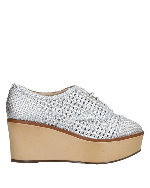Schutz Metallic Lace-up Shoe