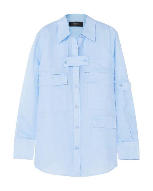 JOSEPH Camisa de mujer de color azul tGkpt