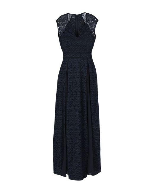 Pinko - Black Long Dress - Lyst