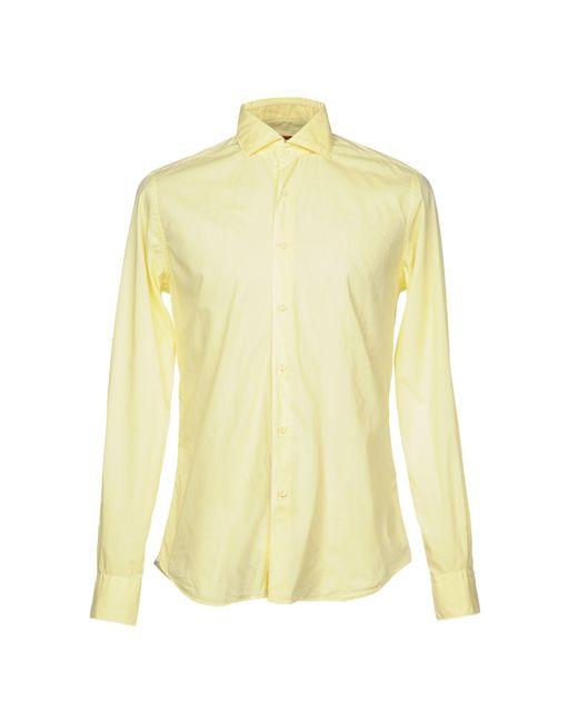 Camicia di Xacus in Yellow da Uomo