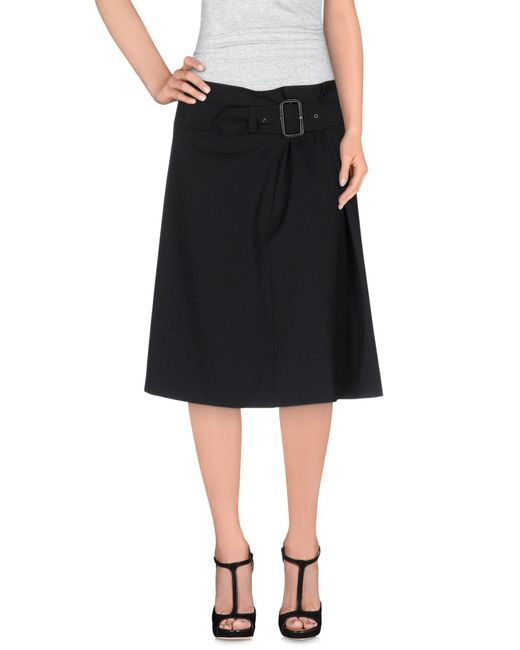 Aspesi - Black Knee Length Skirt - Lyst