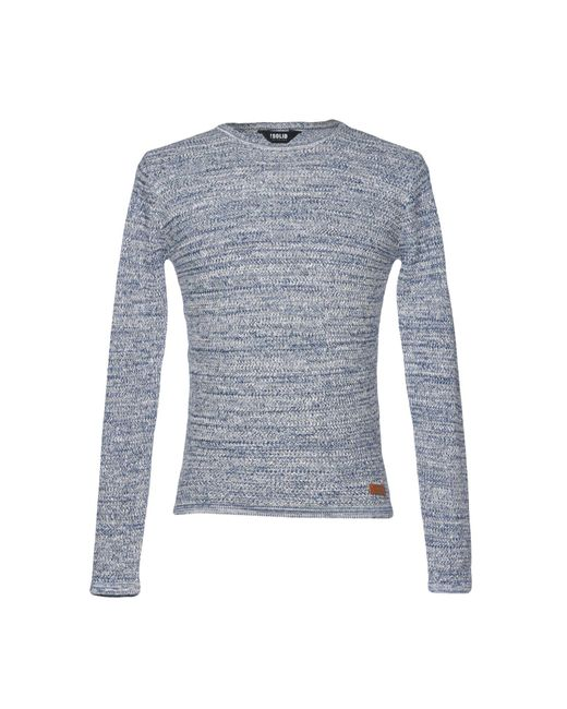 Solid - Blue Sweaters - Lyst