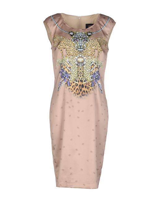 Class Roberto Cavalli Natural Knee-length Dress