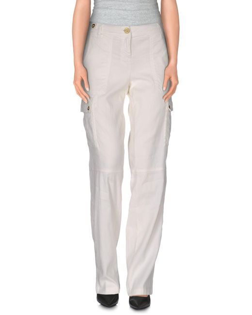 Trussardi - White Casual Pants - Lyst