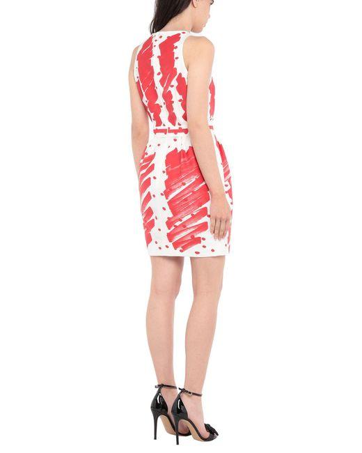 Moschino White Kurzes Kleid