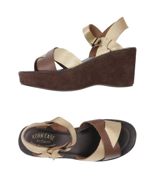 Kork-Ease Metallic Sandals