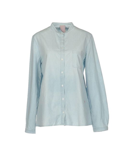 People Blue Denim Shirt