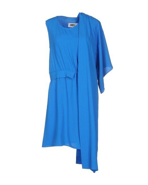MM6 by Maison Martin Margiela - Blue Short Dresses - Lyst
