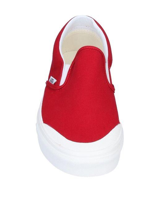 Vans Canvas Low-tops \u0026 Sneakers in Red
