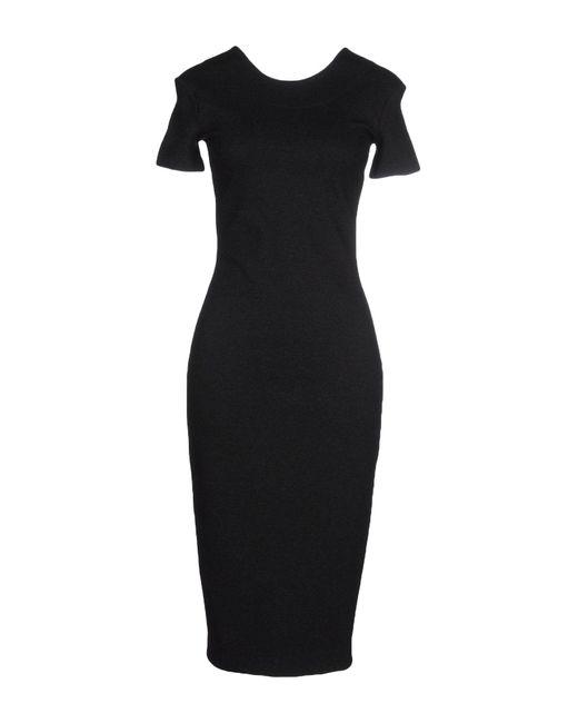 McQ Alexander McQueen Gray Knee-length Dress