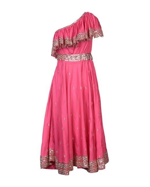 Robe mi-longue Manoush en coloris Pink