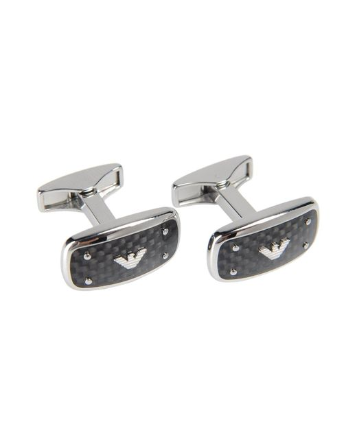 Emporio Armani - Metallic Cufflinks And Tie Clips for Men - Lyst