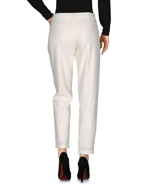 Patrizia Pepe Pantalon femme de coloris blanc LtoyD