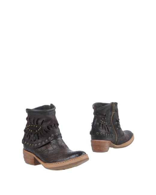 A.s.98 - Brown Ankle Boots - Lyst