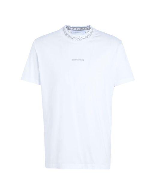 Camiseta Calvin Klein de hombre de color White
