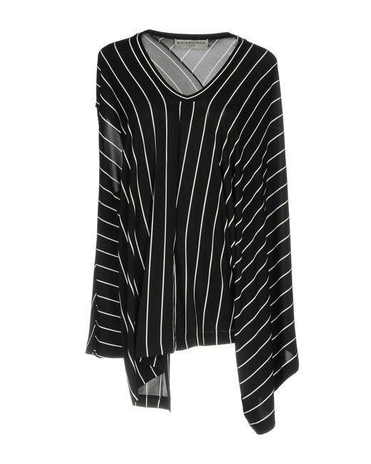Balenciaga Blusa de mujer de color negro X0ygS