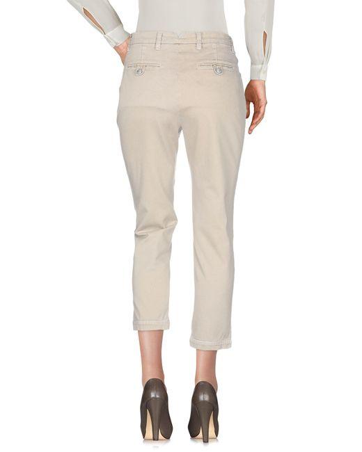 Pantalones Femme By Michele Rossi de color Natural