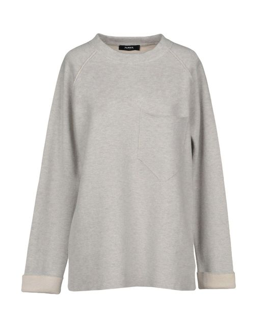 Alpha Studio - Gray Jumper - Lyst