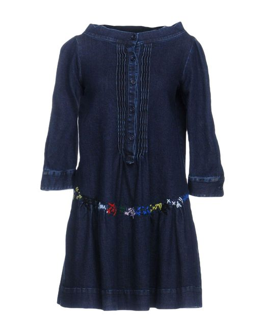 Love Moschino - Blue Short Dresses - Lyst