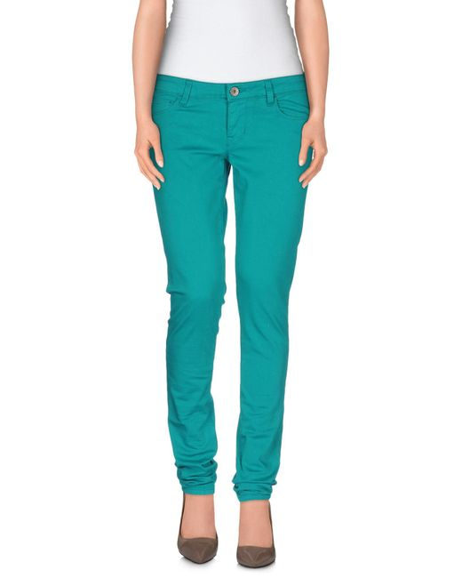 Guess - Blue Casual Trouser - Lyst