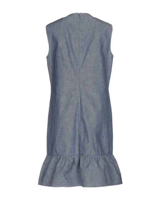 Robe courte Philosophy Di Lorenzo Serafini en coloris Blue