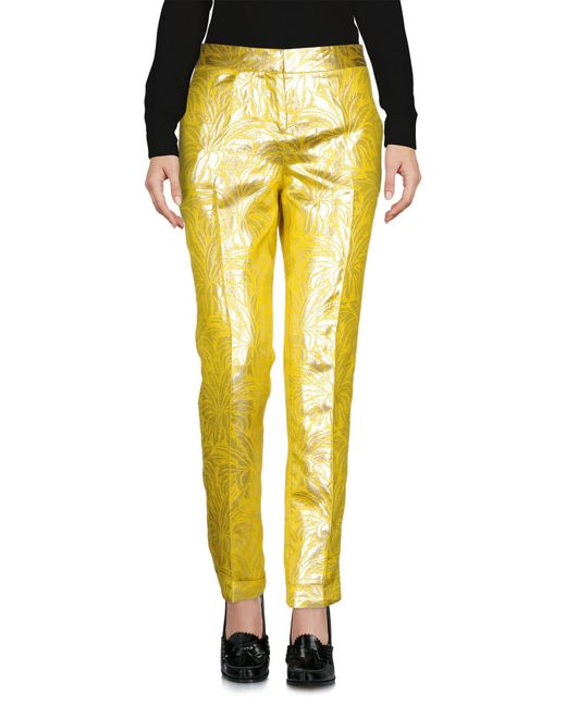 Tory Burch | Yellow Casual Pants | Lyst