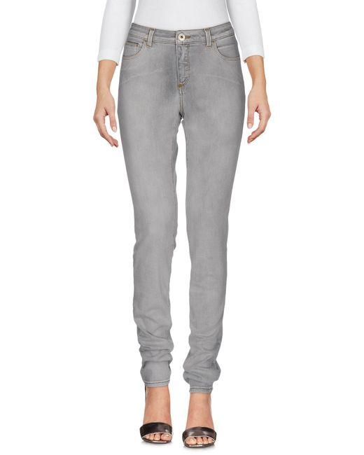 Trussardi Gray Denim Pants