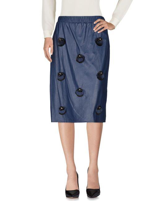 Jupe mi-longue Elisabetta Franchi en coloris Blue