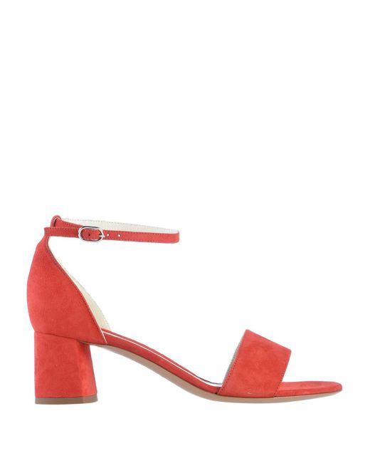 Deimille Sandalias de mujer de color rojo