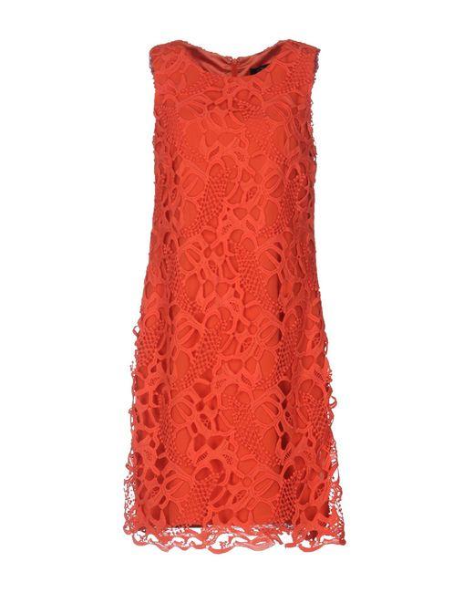 Clips Orange Short Dress