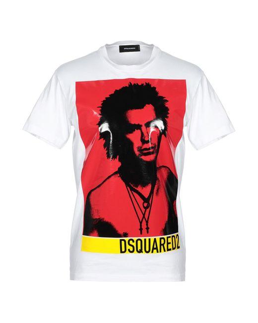 T-shirt di DSquared² in White da Uomo