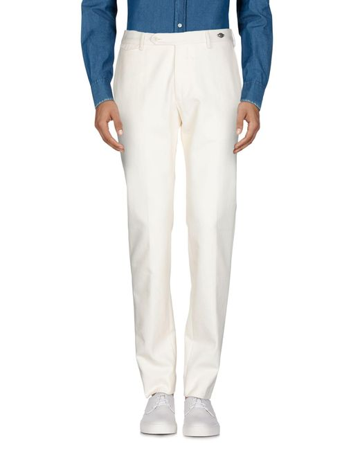 Tagliatore Pantalon homme de coloris blanc
